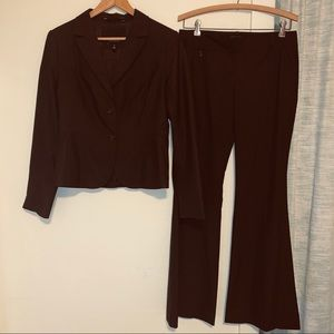 The Limited Dark Brown Pinstriped Pant Suit